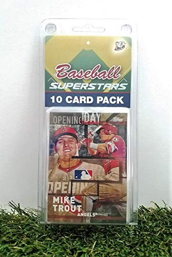 (Mike Trout- (10) Card Pack MLB Baseball Superstar Mike Trout Starter Kit all Different cards. Comes in Custom Souvenir Case! Perfect for the Trout super fan! by 3bros)