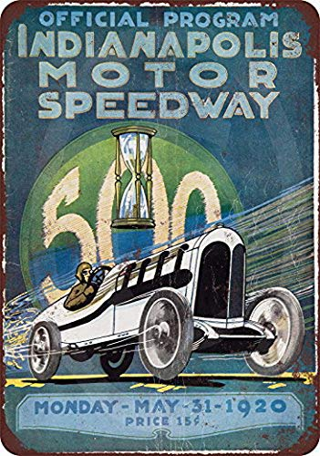 KPSheng 1920 Indianapolis Motor Speedway indy 500 Reproduction Metal Sign 8 x - Motor Indy