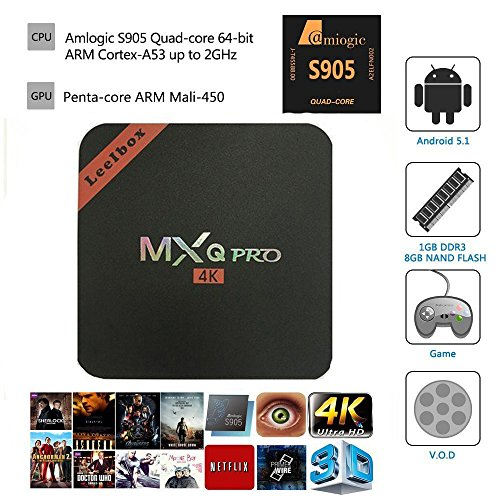 Amazon Lightning Deal 80% claimed: Leelbox 2017  MXQ Pro Android tv box Kodi 16.0 Android 5.1 Amlogic S905 Quad Core 1gb RAM 8gb Flash Support Wifi 4K Google Streaming Media Players