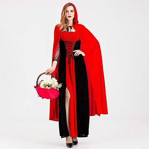 FUPOA Disfraz de Caperucita Blanca Adulto Mujeres Cosplay de ...
