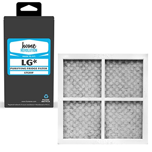 Home Revolution Refrigerator Air Filter, Fits Parts LG LT120F and Kenmore Elite CleanFlow # 46-9918 & 9918 Replacement Filters
