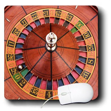 mp_80376_1 Florene Games - Looking Down At A Roulette Wheel - Mouse Pads