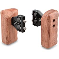 CAMVATE DSLR Wooden Handle Grip with Connector for DV Video Camera Cage(1 Pair)