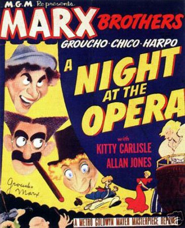 Hot Stuff Enterprise 5202-12x18-LM A Night at The Opera Marx Brothers Poster (Marx Poster Brothers)