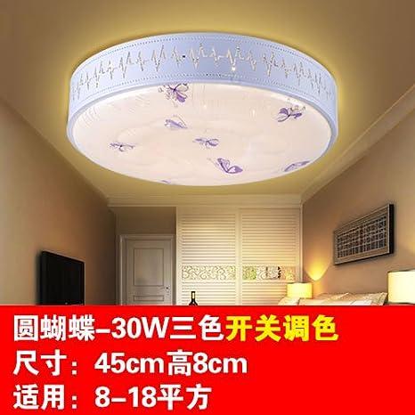 Lámpara de techo las luces LED tricolor salón dormitorio ...