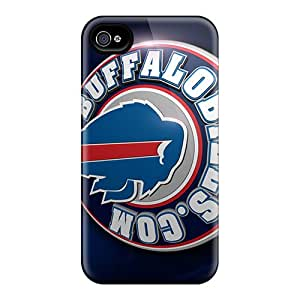 Tpu Case Cover For Iphone 4/4s Strong Protect Case - Buffalo Bills Design