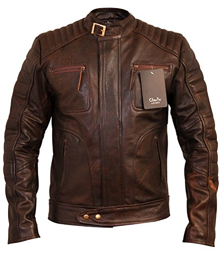 Mens Designer Vintage Brown Weybridge Leather Jacket