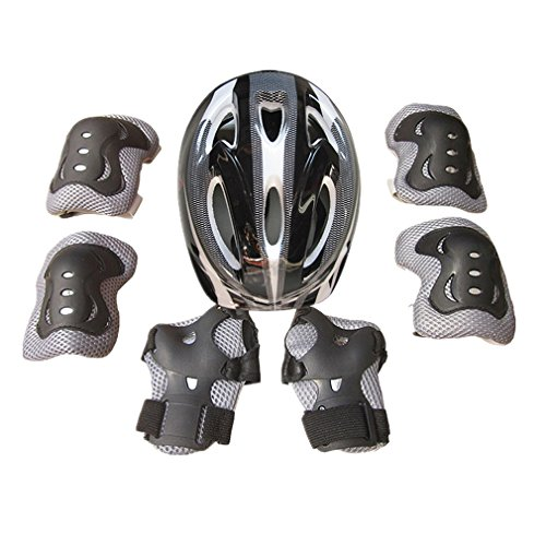 Icemaris-Boy-Girls-Kid-7pcs-Skating-Bike-Ski-Protective-Gear-Safety-Helmet-Knee-Elbow-Pad-Set