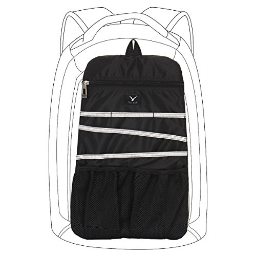 VN Universal Backpack Insert Organizer Travel Bag Slip Gadget Organization Kit Dark Black
