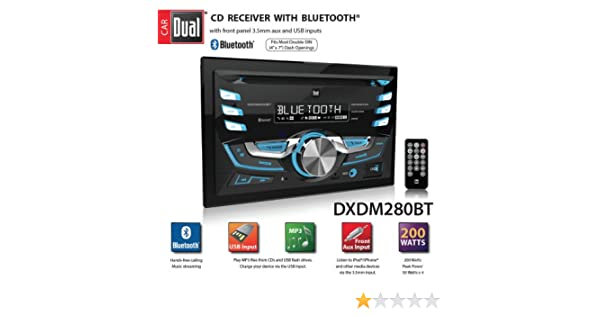 amazon com: dual dxdm280bt double-din am/fm tuner with cd player: car  electronics