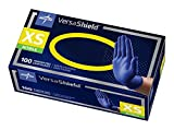Medline VersaShield Nitrile Exam Gloves, Extra Thick 5.5 mil, Disposable, Powder-Free, Cobalt Blue, X-Small, Case of 1000