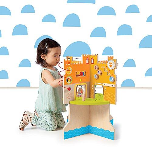 51iE2Q18eBL - Manhattan Toy Storybook Castle Wooden Toddler Activity Center