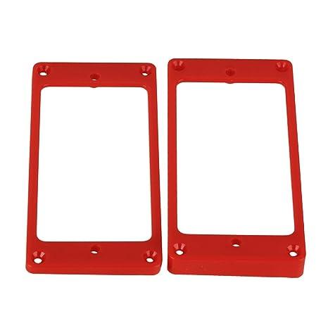 yibuy 90 x 45 mm rojo pastilla para guitarra eléctrica marco curvado montaje anillos para placa