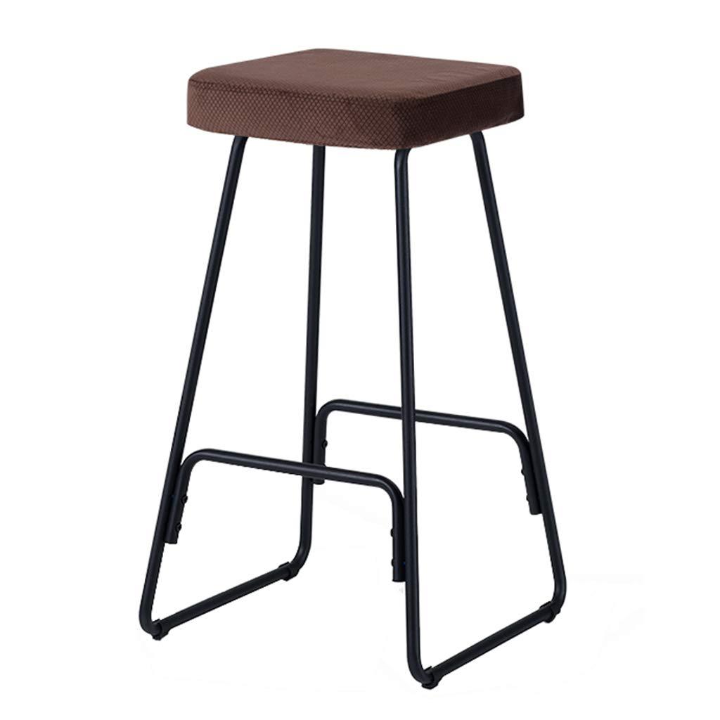 Stools Modern Simple High Stool Home Kitchen Breakfast Stool Leisure Chair Metal Black Legs (Sitting Height  66.5CM)