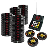 40 Wireless Digital Restaurant Guest Coaster Pager Paging Buzzer System Kit Guest Table Waiting Queuing