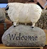 Sheep Themed Barnyard Key Hider Welcome Sign
