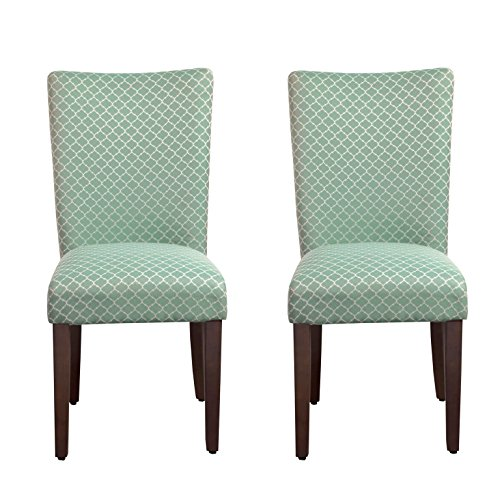 Dark Walnut Accent (Kinfine Parsons Upholstered Accent Dining Chair, Set of 2, Teal)