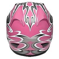 Raider Full Face Helmet (Pink, Large) from Raider