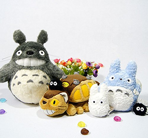 Amazon.com: 2015 New Peluche Totoro Catbus My Neighbor Totoro Family Plush Doll 6pcs/lot toys For Kids High quality Pelucia Free shipping: Baby