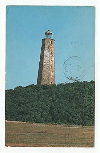 Old Cape Henry Lighthouse, Virginia Vintage Original Postcard #2971 - June 8, 1961