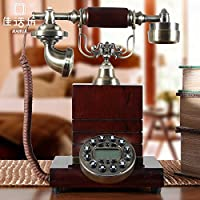 European solid wood antique telephone landline, Corded Telephones