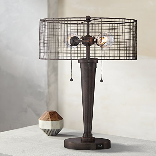 Nolan 20 34h industrial accent table lamp with usb port amazon greentooth Choice Image