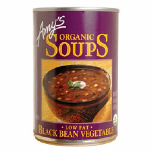Amys Black Bean Vegetable Soup 14.5 oz - Pack of 6 (Amys Soup Black Bean)