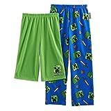 AME Boys Minecraft Creeper 2-Pack Lounge Pants & Shorts Size Medium (6/8)