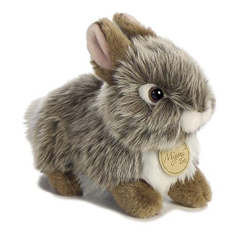 (Aurora World Miyoni Baby Bunny Plush, Grey)