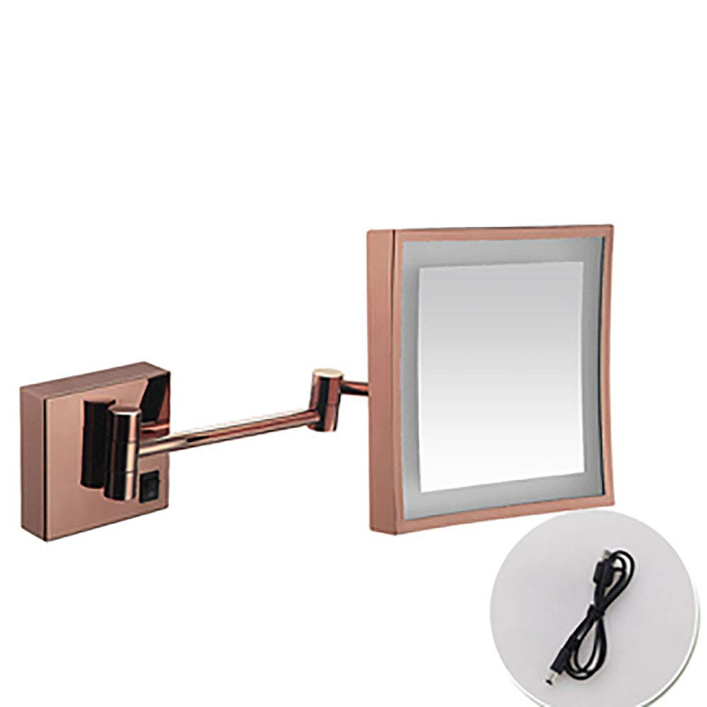 化粧鏡は、ライトウォールマウント折りたたみ伸縮バスルーム化粧台ミラーを導きました gold B07PW62LT3 rose gold B07PW62LT3 gold rose gold, 臭いナイ湿気ナイ:096cf91e --- itxassou.fr