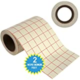 15.2cm by 15m Transfer Paper Tape Roll w/ Grid - PERFECT ALIGNMENT of Cricut or Cameo Self Adhesive Vinyl for Walls, Signs, Decals, Windows, and other Smooth Surfaces (6in. x 50ft.)