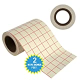 "Angel Crafts 6"" by 50' Transfer Paper Tape Roll w/ Grid - PERFECT ALIGNMENT of Cricut or Cameo Self Adhesive Vinyl for Walls, Signs, Decals, Windows, and other Smooth Surfaces."