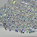 MIOBLET 1440Pcs Tiny Mini Nails Rhinestone Micro Diamond 3D Nail Art Glitter Rhinestones Decorations Crystal Accessories Nail Tips Gel Manicure