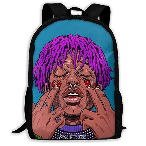 8byeliu 3D Print Lil_Uzi_Vert Backpack,Classic School Bag DIY Travel Lightweight Daypack