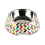 French Bull 12 oz. Pet Bowl, 2 Piece – Dog, Cat, Feeder, Nonslip, Stainless Steel, Raised – Ziggy White
