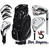 Ben Sayers M15 All Graphite Shafted Complete Golf Club Set Cart Bag Mens New Graphite Clubs Head Covers + FREE Ben Sayers Golf Umbrella & Society Pack Worth £24.00