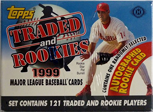 Topps Traded Factory (1999 Topps Traded MLB Baseball Factory Sealed 121 Card Set with One Autographed Rookie Card)