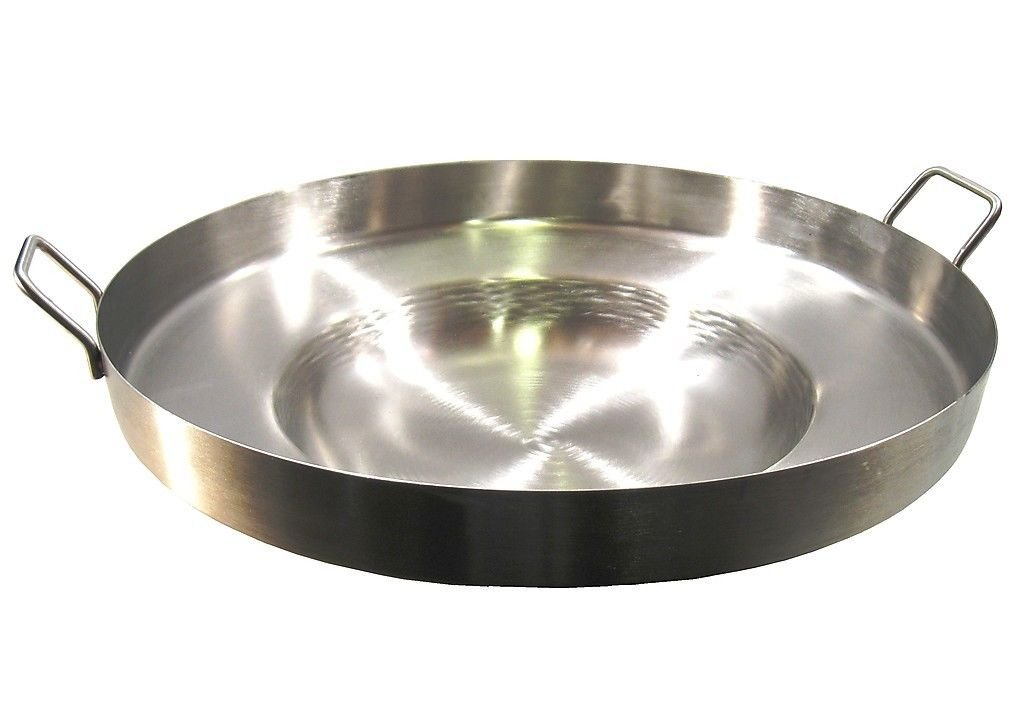 """Comal Stainless Steel 22"""" Acero Inoxidable Concave Outdoors Stir Fry Heavy Duty Comal Para Freir"""