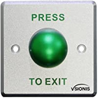 Vsionis VIS-7006 Round Sturdy Stainless Steel Request to Exit Button for Door Access Control Wide Size, NC and NO Outputs