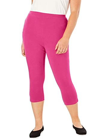 b8aca1dabeaf Woman Within Women s Plus Size Petite Stretch Cotton Capri Legging