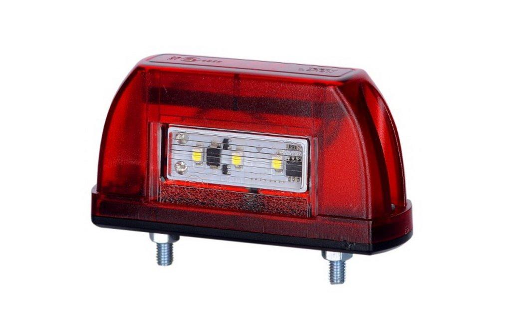12/V 24/V e-contrassegnato auto camion rimorchio camper caravan Van License Lamp set coda rosso doppia funzione universale 2/x 5/LED luce targa posteriore