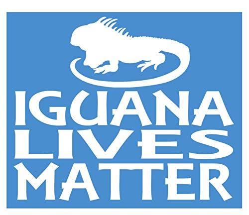 EZ-STIK Iguana Lives Matter Sticker k144 6 inch lizard terrarium decal