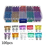 100Pcs Practical Car Motorcycle Medium Fuse Insurance Zinc Sheet