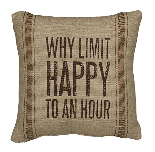 Primitives by Kathy Why Limit Pillow, 10-Inch by 10-Inch [並行輸入品] B07RDX9B3N