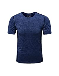 MEATFLY.Men's Solid Rashguard UPF 50+ Swim Shirts