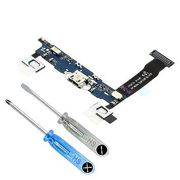 MMOBIEL Conector Dock Cargador para Samsung Galaxy Note 4 N910F de Repuesto. Puerto Micro USB Cable Flex con Adhesivo. Incluye Dos Destornilladores y ...