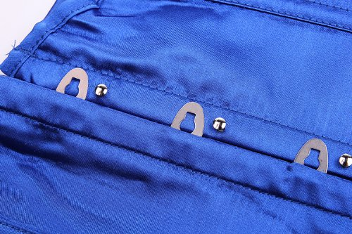 E-SHINE CO De la Mujer Rocker Estilo Chaleco Underbust Moda cors¨¦ de Cintura Azul