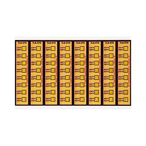 Motorsport Brake Caliper Temperature Strips 370-450°F Pack of 16 Labels