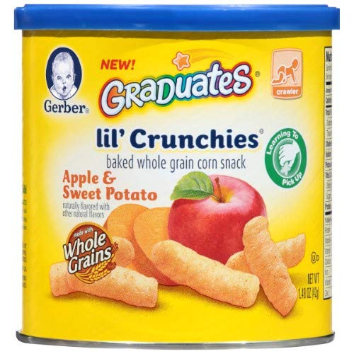 Gerber Lil' Crunchies Baked Whole Grain Corn Snack (Pack of 14)