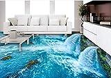 BZDHWWH 3D Stereoscopic Floor Wallpaper Ocean World 3D Flooring Hd Custom Vinyl 3D Floor Landscape Wallpaper,110Cm X 160Cm